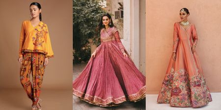 Angrakhas- A New Silhouette For Your Winter Day Mehendi!