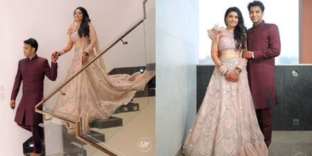 Lockdown Engagement At Home With The Bride In A Dainty Pink Lehenga