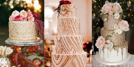 These Edible Sequin Cakes Are Perfect For Your Engagement Soiree!