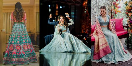 Stunning Lehengas In Aqua That We Have Our Hearts On!