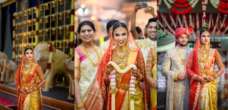 Grand Bangalore Wedding With Gorgeous Decor & A Traditional Kanchipuram Saree