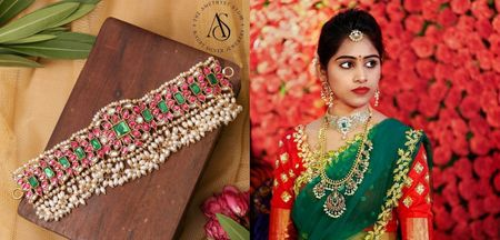 Chokers And How To Style Them With Kanjeevarams and Lehenga Sarees
