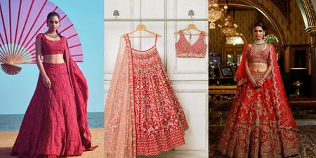 10 Red Bridal Lehengas At Every Price Point
