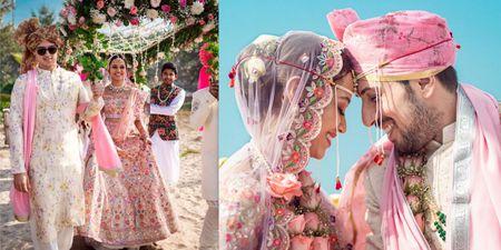 A Gleeful Beachside Wedding With A Colour-Coordinated Couple