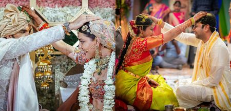 Some Beautiful Jeelakara Bellam Ceremony Pics