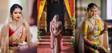 Real Brides Who Paired Up Their Kanjeevarams With A Dupatta!