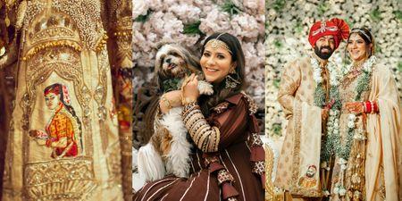 Happy Ludhiana Wedding With A Handpainted Lehenga & Self Designed Jewellery!
