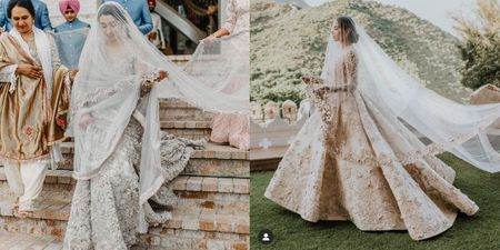 Brides Are Opting For PeeCee Style Long Veils, & We Love The Drama!