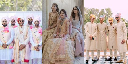 The Coolest Coordinated Bridesmaids & Groomsmen We Spotted