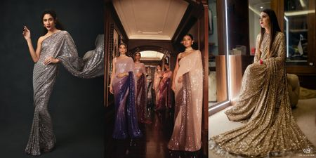 Stunning Shimmer Sarees That Are Perfect For Your Cocktail!