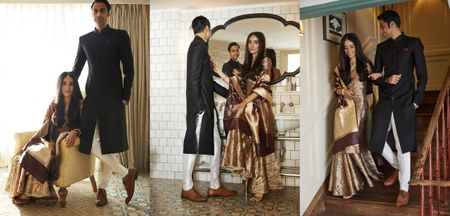 Intimate Wedding With The Bride In A Brown Brocade Sharara
