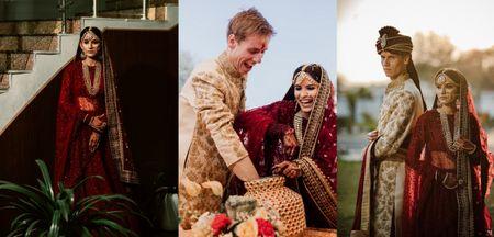 Classy Delhi Wedding With A Sustainable Bride Who Rented 2 Sabyasachi Lehengas!