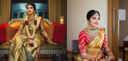 1 Gold Bridal Kanjeevaram - 4 Blouse Options To Choose From