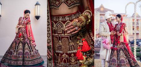 Glam Delhi Wedding With Striking Bridal Jewellery