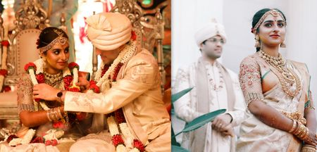 A Beautiful Bangalore Wedding With An Offbeat Bridal Kanjeevaram
