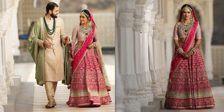 Ethereal Jaipur Wedding With A Bride in Glamorous Outfits