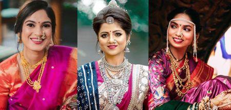 Marathi Brides Who Wore The Prettiest Plum Sarees!