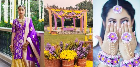Yellow & Purple – Stunning Ways To Incorporate This Colour Palette In Your Wedding!