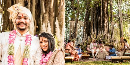 Unconventional Goa Wedding With Quirky Decor & A Mandap Under A Banyan Tree!