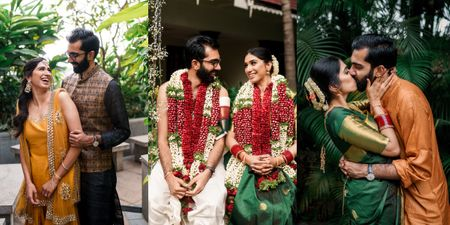 2 States Wedding In Bangalore With A Happy Vibe & Elegant Decor!