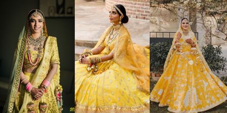 The Prettiest Yellow Bridal Lehengas We Spotted!