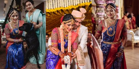 Traditional Mangalorean Wedding With The Bride In A Royal Blue Kanjeevaram!