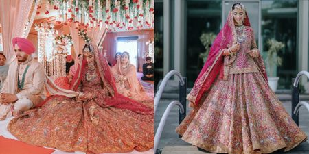 This Bride Wore A Bridal Outfit With 101 Kalis!