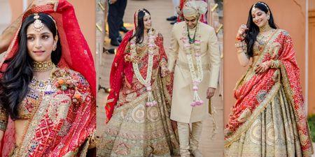 Jaipur Wedding At A 300-Year-Old Mandir With A Regal Bridal Look!