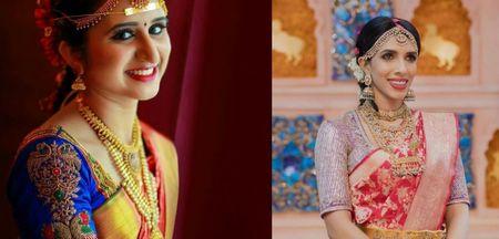 1 Red Kanjeevaram Saree, 4 Contrast Blouses