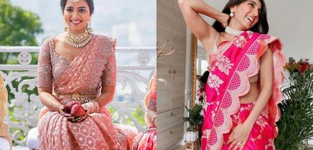 Scalloped Sarees We Are Loving!
