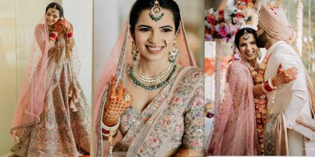 Heartwarming Delhi Wedding With A Couple In Coordinated Pastels