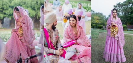An Intimate Anand Karaj With Tones Of Pink & Purple