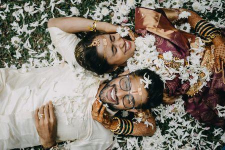 Intimate Bangalore Wedding With A Purple Bridal Kanjeevaram