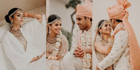 Picture Perfect Pastel Delhi Wedding With Edgy Bridal Portraits!