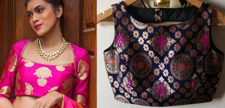 How To Use Brocade Blouses To Amp Up The Look Of Your Kanjeevaram Saree- A Wedding Guest Special