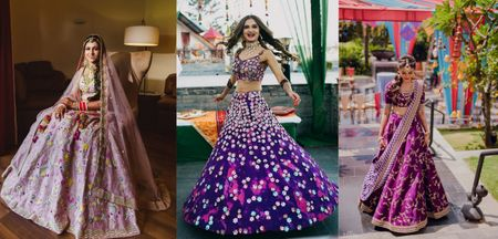 10 Different Shades Of Purple We Spotted On Real Brides!