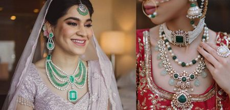 Brides That Wore The Most Exquisite Emerald Jewellery!