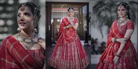 This Bride's Unique Mehendi Look With Silver Jewellery Has Us Swooning!