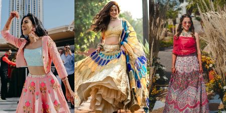 The Freshest, Trendiest New Mehendi Outfits We Spotted On Brides!