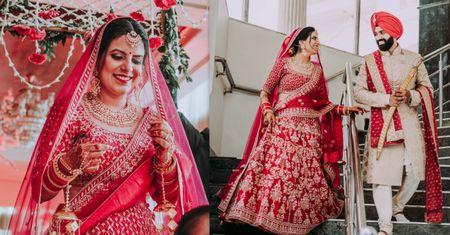A Quaint Gurudwara Wedding Of A Colour-Coordinated Couple