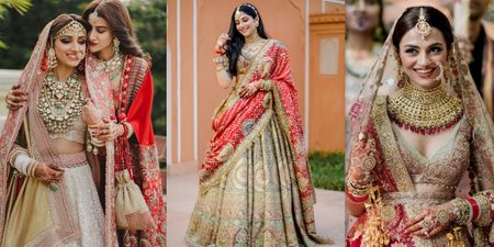 These Brides Had Hints Of Red In Their Lehengas Without Wearing A Red Lehenga