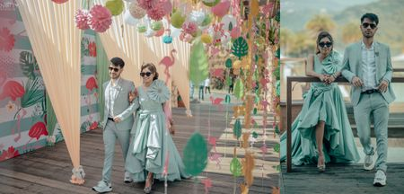 Whimsical Destination Wedding With Offbeat Themes & Gorgeous Bridal Outfits