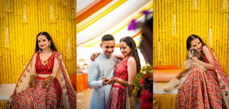 An Intimate Delhi Wedding With An Offbeat Bridal Lehenga