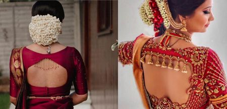 Interesting Back Blouse Designs For Your Kanjeevaram Saree