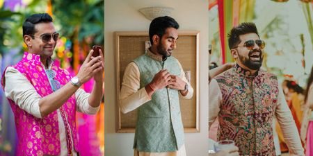 10+ Quirky Patterned Nehru Jackets For The Groom To Wear For An Intimate Mehndi
