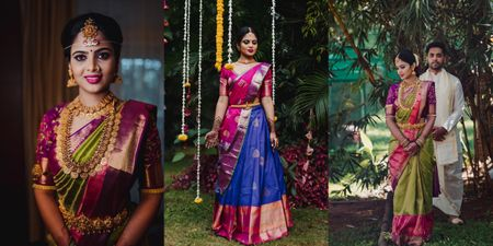 Classic Bangalore Wedding With A Bride In Vibrant Outfits