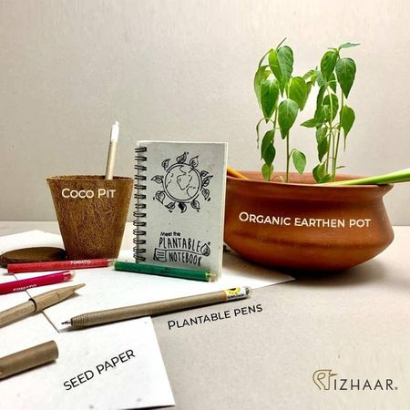 This Invitation Has Plantable Pens, Seed Paper and A Coco Pit!