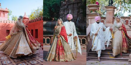 Intimate Palace Wedding With Regal Outfits & An Old World Charm!