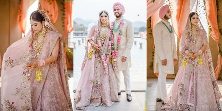 Dreamy Pandemic Wedding With A Bridal Lehenga That We're In Love With!