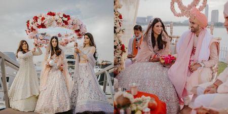 Intimate Wedding With Only 10 Guests & A Beautiful Salmon Manish Malhotra Lehenga!